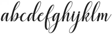 santosa Regular otf (400) Font LOWERCASE