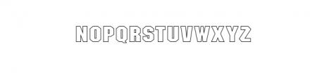 SASM RegHollow.otf Font LOWERCASE