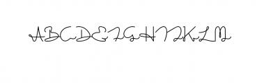 Sakila Script.otf Font UPPERCASE