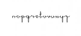 Sakila Script.otf Font LOWERCASE