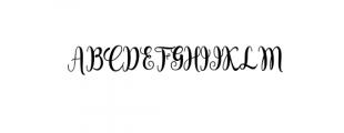 Sambilan Modern Calligraphy Typeface Font UPPERCASE