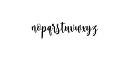 Sambilan Modern Calligraphy Typeface Font LOWERCASE