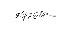 Sandreas Signature Font OTHER CHARS