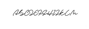 Sandreas Signature Font UPPERCASE