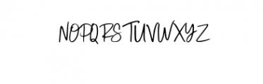 Sandstrom Font UPPERCASE