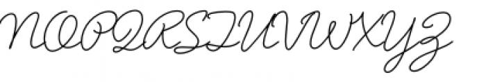 Said In Script Regular Font UPPERCASE