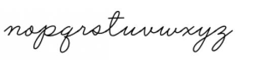 Said In Script Regular Font LOWERCASE
