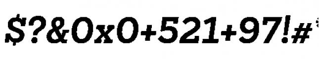 Sanchez Niu Bold Italic Font OTHER CHARS