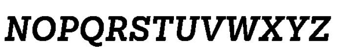 Sanchez Niu Bold Italic Font UPPERCASE
