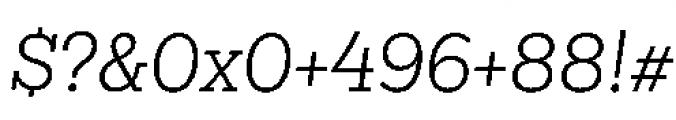 Sanchez Niu Light Italic Font OTHER CHARS