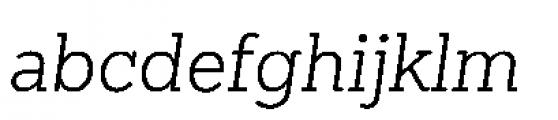 Sanchez Niu Light Italic Font LOWERCASE