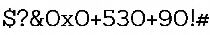 Sanchez Niu Regular Font OTHER CHARS