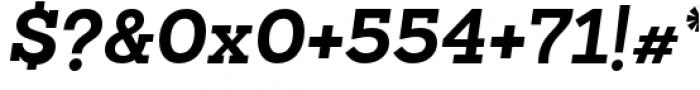 Sanchez Slab Bold Italic Font OTHER CHARS