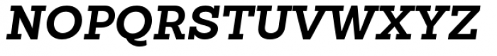 Sanchez Slab Bold Italic Font UPPERCASE