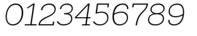 Sanchez Slab Extra Light Italic Font OTHER CHARS