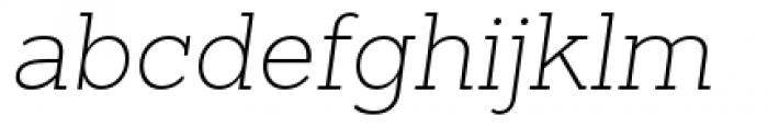 Sanchez Slab Extra Light Italic Font LOWERCASE
