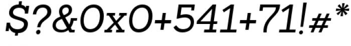Sanchez Slab Italic Font OTHER CHARS