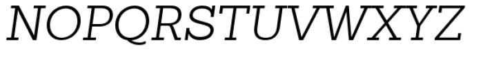 Sanchez Slab Light Italic Font UPPERCASE