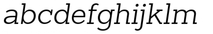 Sanchez Slab Light Italic Font LOWERCASE