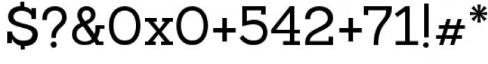 Sanchez Slab Regular Font OTHER CHARS