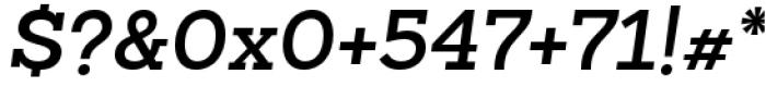 Sanchez Slab Semi Bold Italic Font OTHER CHARS