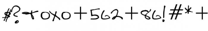 Sandscript BTN Regular Font OTHER CHARS