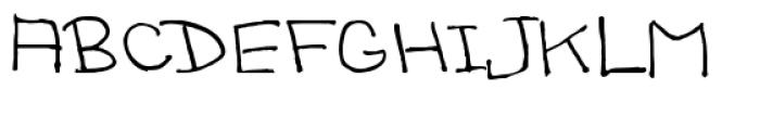 Sandscript BTN Regular Font UPPERCASE