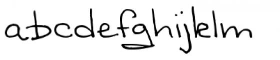 Sandscript BTN Regular Font LOWERCASE