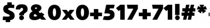 Savigny Black Normal Font OTHER CHARS