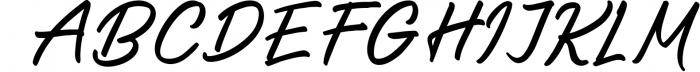 Saltery Brush Font 1 Font UPPERCASE