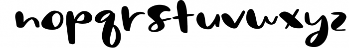 Sassy - A Bold Script Font Font LOWERCASE