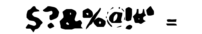 SA-Caustic Font OTHER CHARS