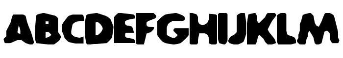 SA-Caustic Font UPPERCASE