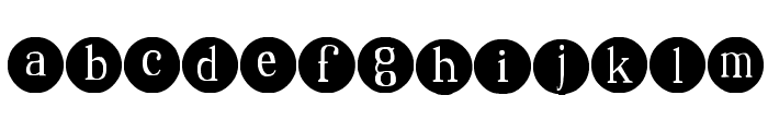 SA Dots Font LOWERCASE