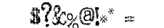 SA Inkspot Font OTHER CHARS