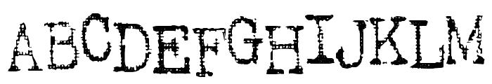 SA Inkspot Font UPPERCASE