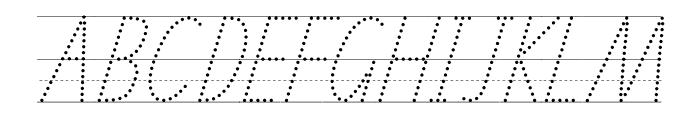 SA School Handwriting Guide Font UPPERCASE