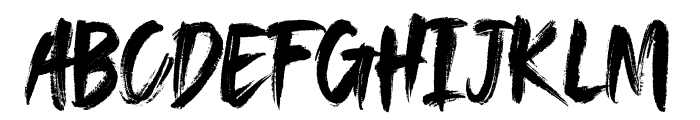 SAEROWS - DEMO Font UPPERCASE