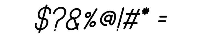 SANSI Bold Italic Font OTHER CHARS