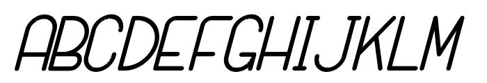 SANSI Bold Italic Font UPPERCASE