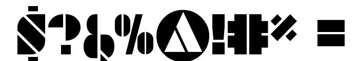 SAVARO STENCIL Font OTHER CHARS