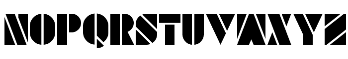 SAVARO STENCIL Font LOWERCASE