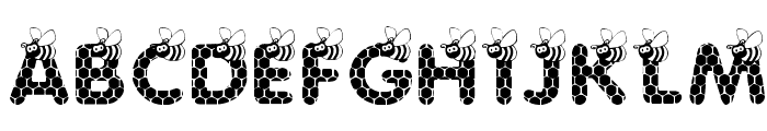 SAVE THE HONEYBEE Font UPPERCASE