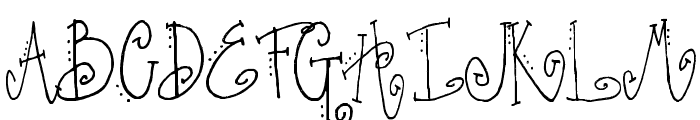 SA_Fussy Font UPPERCASE
