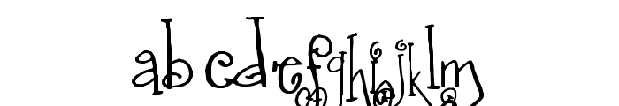 SA_Fussy Font LOWERCASE