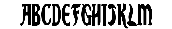 Sable Lion Condensed Font UPPERCASE
