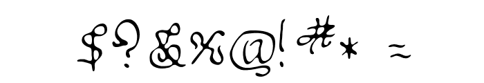 Sable Font OTHER CHARS