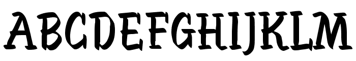 SableBrush Font UPPERCASE