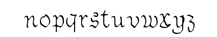 Sable Font LOWERCASE