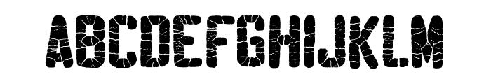 Sablon Washed Super Font UPPERCASE